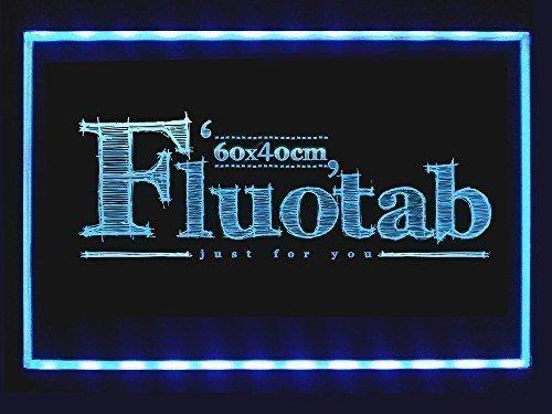 FluoTab - Tablón luminoso publicitario LED, fluorescente, con mando a distancia, color Fluotab seul S6040 - 60*40CM